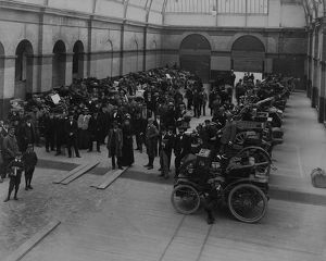 1900 1000 mile trial. Cars on exhibition at Cheltenham