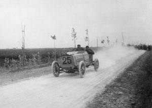 1904 Ostend Speed Trials. Darracq Barras