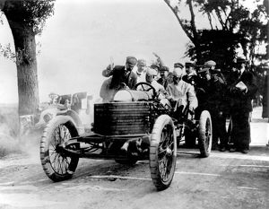 1906 Ostend Speed Trials. Darracq 200hp V8 A.Lee Guiness