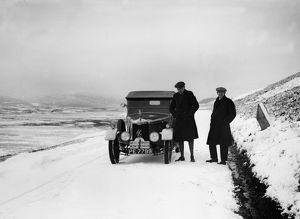 1926 Monte Carlo Rally. Winner Hon V.A. Bruce and co driver Bill Brunell with their A.C