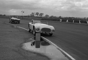 1953 AC Ace prototype. V.Davison, 8 Clubs Silverstone 29th May 1954. CD2898