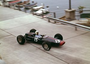 1965 Monaco GP. Richard Attwood Lotus 25 BRM V8