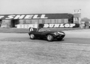 Jaguar D type Masten Gregory-Innes Ireland.Tourist Trophy Goodwood 13/9/1958. CD6404