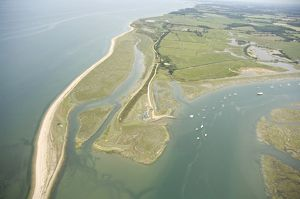 Aerial View of the Beaulieu river, Needs Ore