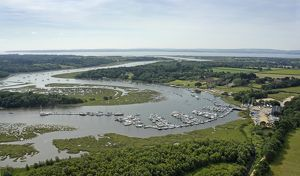 Aerial View ot the Beaulieu river