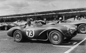 Aston Martin DB3S, Reg Parnell. Charterhall Newcastle Journal International Trophy Race