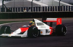 Ayrton Senna in the McLaren MP4-5 at 1989 British Grand Prix, Silverstone