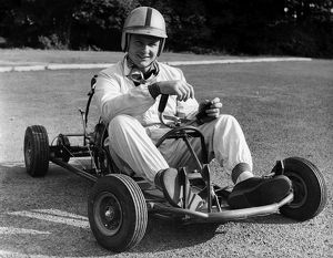 Bruce McLaren on his Em-Bee Wasp Kart
