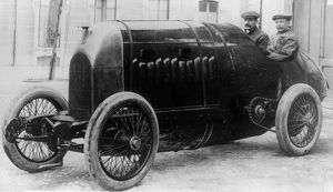 Fiat S76, Nazzaro at wheel with Fagano 1912