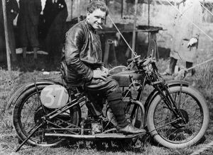 FW Dixon on HRD motorbike 1927