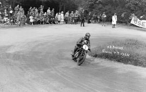 HRD, HR Davies during 1926 Isle of Man Senior TT race, Ramsey Hairpin 1926