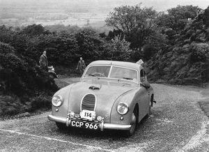 Jowett Jupiter Abbott Body. C.P.Swain. Morecambe Rally 15th May 1953