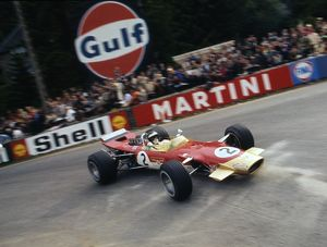 Lotus 49 Gold Leaf, Jackie Oliver. 1968 Belgian Grand Prix