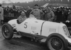 Maserati -Straight 8cm 2.9 1934 at Brooklands International Trophy, which he won