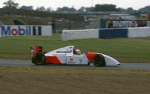 McLaren Peugeot MP4-9, Martin Brundle tyre testing at Silverstone 1994