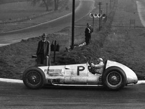 Mercedes Benz W154, H. Lang. Donington 1938 British Grand Prix