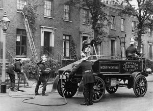 Merryweather electric fire engine
