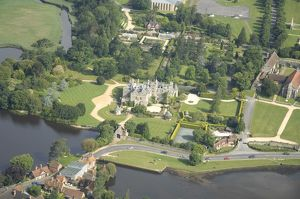 Palace House and Beaulieu grounds from the air