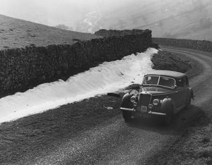 Riley 1.5 RAC Rally 1954 at Park Rash Hill in Yorkshire