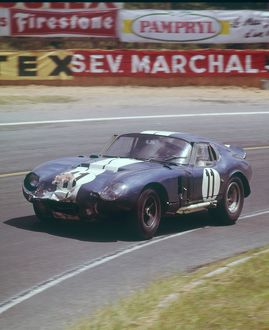 Sears and Thompson in the AC Ford Cobra Daytona,1965 Le mans