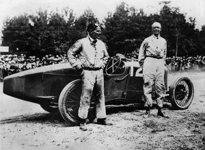 Sir Henry Segrave after winning 1923 French Grand Prix in Sunbeam