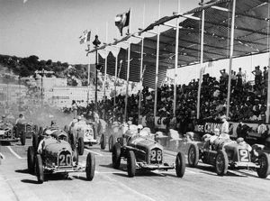 Start Nice GP 1934 Nuvolari in 2, Maserati 8CM