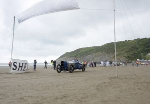 Sunbeam 350 hp driven by Don Wales at Pendine Sands 2015